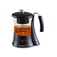 BEPER 90836 elektrická skleněná konvice na čaj, 700ml, 600W